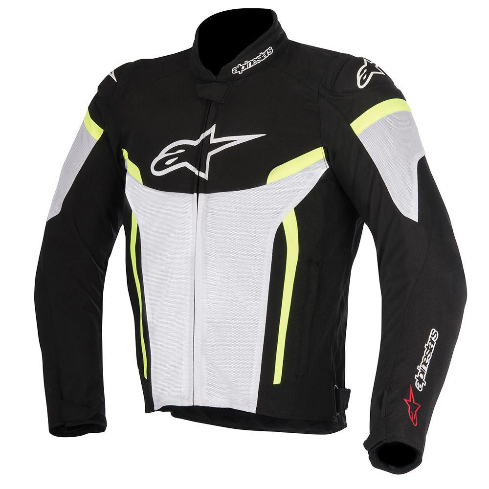ALPINESTARS Мотокуртка T-GP PLUS R V2 AIR JACKET чёрно-бело-жёлтый